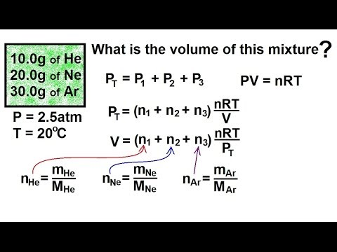 Chemistry of Gases (27 of 40) Partial Pressure: Gas by Mass
