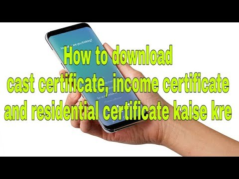 how to download income certificate, cast certificate, death certificate
