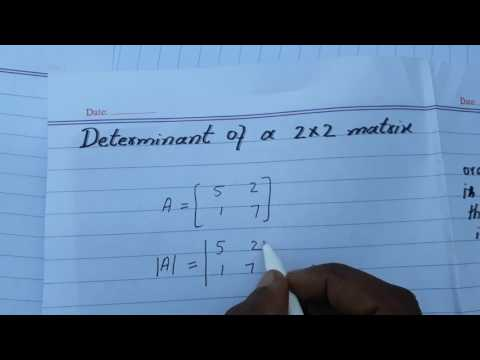 how to find the determinant of a 2x2 matrix in urdu/hindi best way