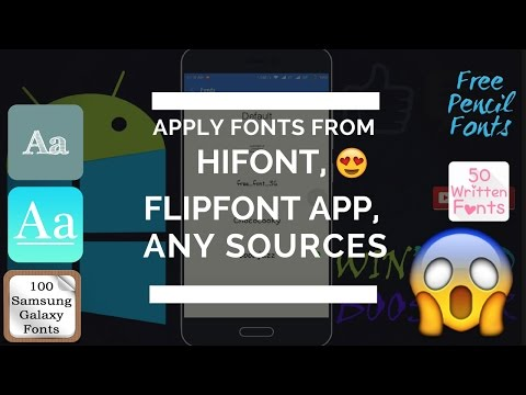 How to apply fonts from hifont/galaxy font apps/flipfonts on xiaomi devices.