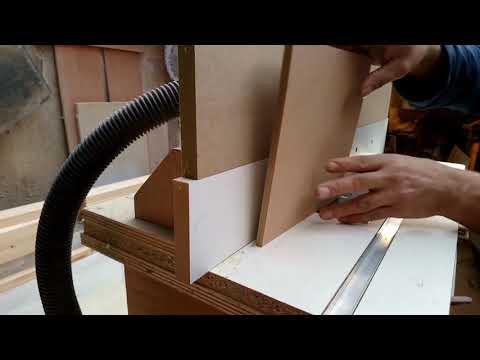 Making drawers with a lock corner router cutter