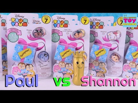 Paul vs Shannon Challenge Disney Tsum Tsum Series 7 Tsumprise Toy Review   PSToyReviews