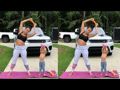Mother And Her Small One Year Cute Daughter Amazing Workout Funny  Video || Food Bank