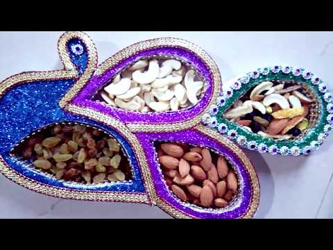 DIY dryfruit box using thermocol |sankranti gifts ideas at home