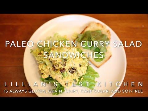 Paleo Chicken Curry Salad Sandwiches
