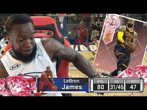I SCORED 82+ POINTS WITH PINK DIAMOND LEBRON! NBA 2k18 MyTeam