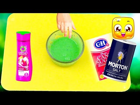 How To Make Slime with Shampoo and Sugar and Salt only! Testing Sugar Slime Recipes No Glue!