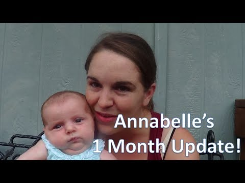 Annabelle's 1 Month Baby Update! (Gaining weight fast! Taking bottles!)