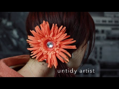 DIY How To Make A Boutique Style Hair Flower