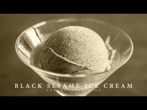 [No Music] How to make Black Sesame Ice Cream