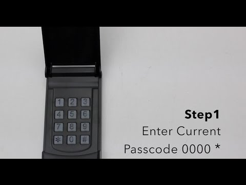 Skylink Keyless Entry Model KN-318 - Changing Passcode