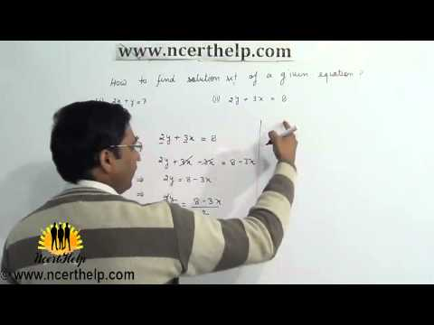 how to find the solution set of a system of linear equations