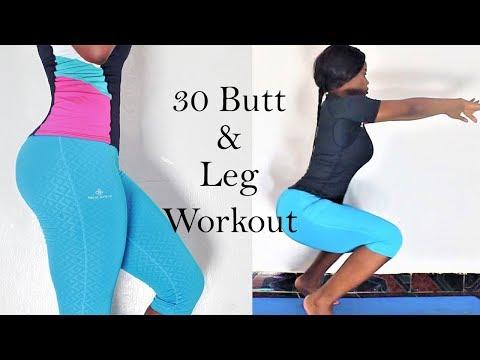 30 body Weight butt and leg workout| how to get a bigger butt & leg | exercise for hips, Butt & legs