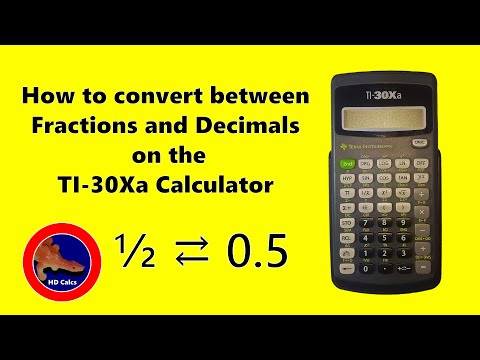 How to do Fractions to Decimals on the TI-30Xa Calculator