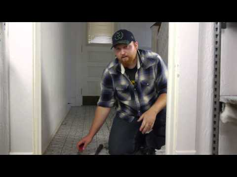 How to Remove an Old Tile Covering on a Hardwood Floor : Flooring Maintenance
