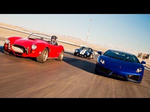 Factory Five Kit Cars vs a Lamborghini Gallardo! - HOT ROD Unlimited Episode 27