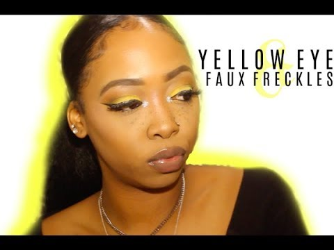 YELLOW EYES & FAUX FRECKLES !