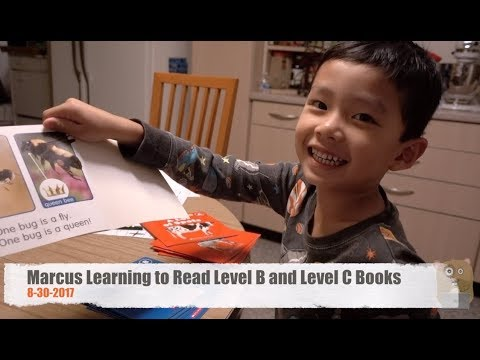 Fatherhood - Marcus Learning to Read Level B and Level C Books 8-30-2017