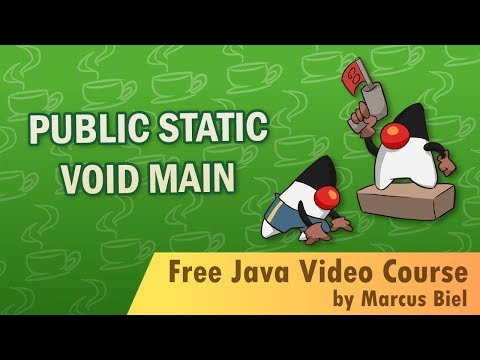 Java for Beginners 14 - public static void main