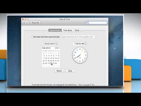 How to Set Time  and Date in Mac® OS X™