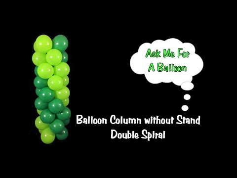 Balloon Column Tutorial without Stand/Frame