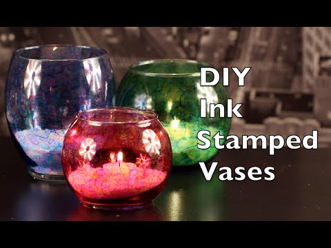 How To Make Alcohol Ink Stamped Vases
