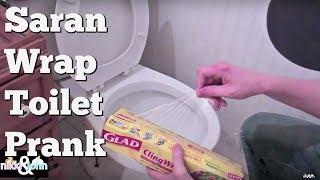 Saran Wrap Toilet Prank On Girlfriend