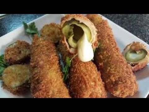 MOZZARELLA STUFFED FRIED PICKLES, RICHARD IN THE KITCHEN