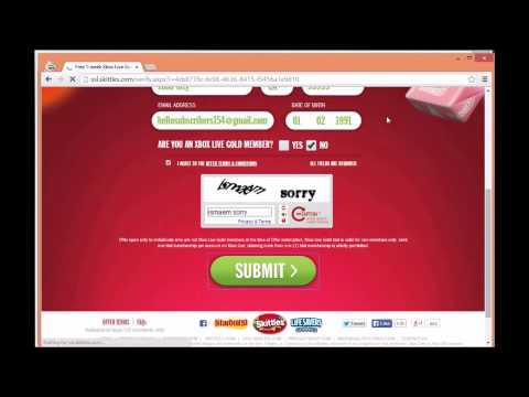 How to get Xbox Live for Free! No Surveys. No Downloads. *Tutorial* #Patched !