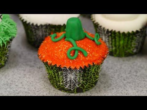 How To Make A Pumpkin Cupcake For Halloween