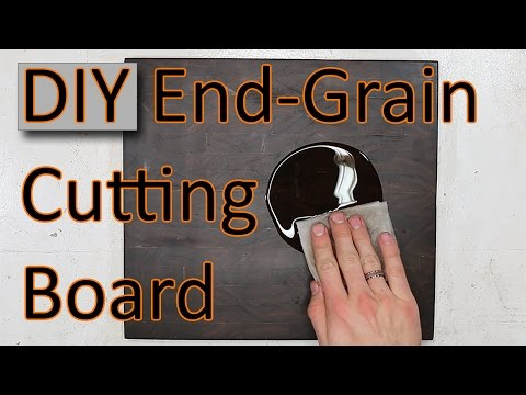 How to Make an End-Grain Cutting Board out of Walnut! (DIY)