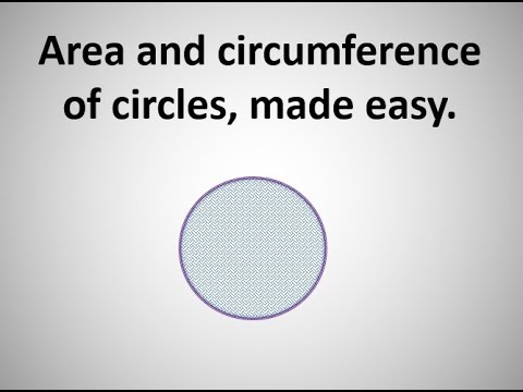 How to find Area and Circumference  of circles easy. Maths help easy.