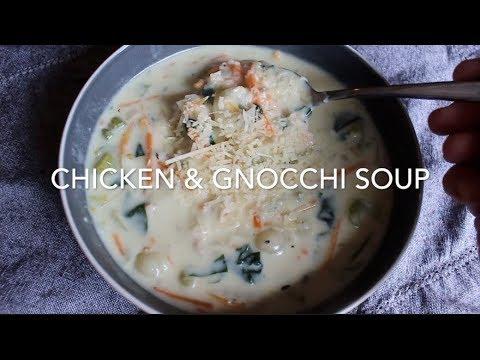 Chicken Gnocchi Soup    Olive Garden Copycat Recipe