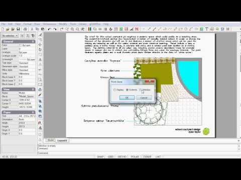 Learn landscape CAD - Print PDF files from GardenCAD Plus