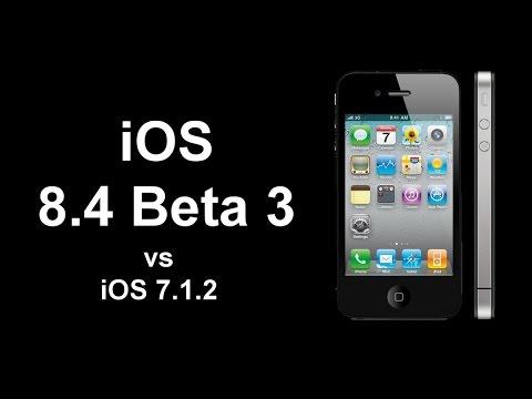 iOS 7.1.2 vs iOS 8.4 Beta 3 on iPhone 4S - Speed test