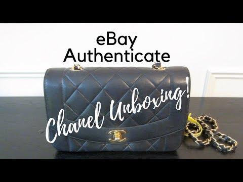 PART I eBay Authenticate & Leather Surgeons   Luxury Unboxing   Chanel Vintage Navy Diana Flap Bag
