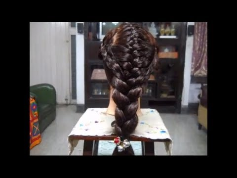 A Braid Hairstyle for long and medium hair. Make a thick braid.