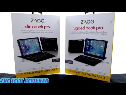 Zagg Rugged Book Pro & Slim Book Pro: Outstanding Keyboard Cases for iPad Pro 9.7!