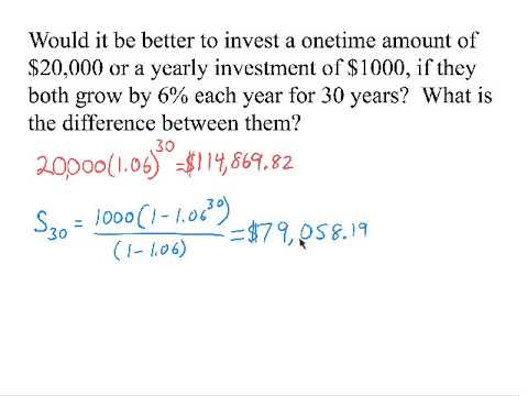 Choosing Between Exponential Growth and Geometric Series