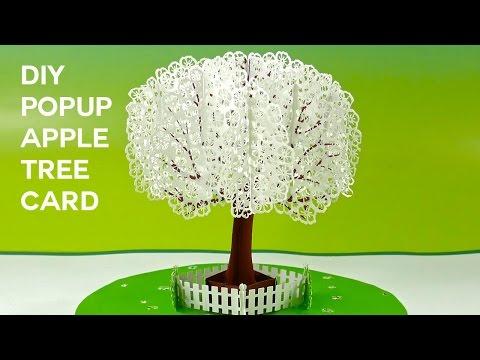 Pop-Up Apple Tree Card Tutorial (3D Sliceform on the Cricut)