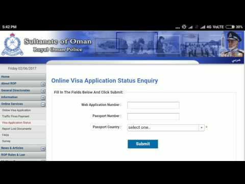 How to check track oman visa staus online in hindi with mobile or computer