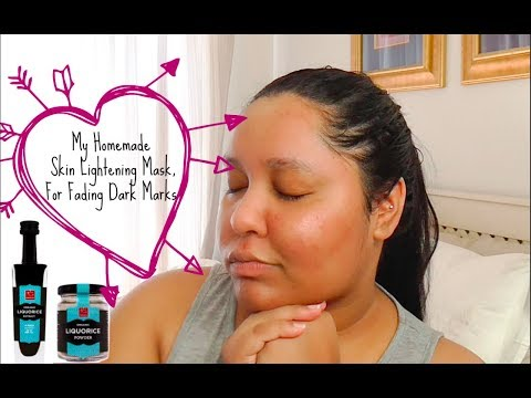 My DIY Liquorice Root Mask for Lightening Acne Scars|| South African You-tuber