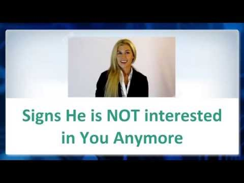 Signs that He is NOT interested in You Anymore -► How to Tell if a Guy isn't into You