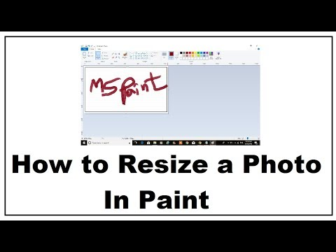 How to Resize photo Using Paint