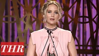 Jennifer Lawrence Full Acceptance Speech at The Hollywood Reporter