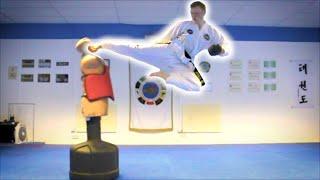 Taekwondo Kicking Sampler on the BOB XL | Martial Arts Training