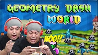 THIS F#%KING MUSIC!!!! [GEOMETRY DASH: WORLD] [GAMEPLAY]
