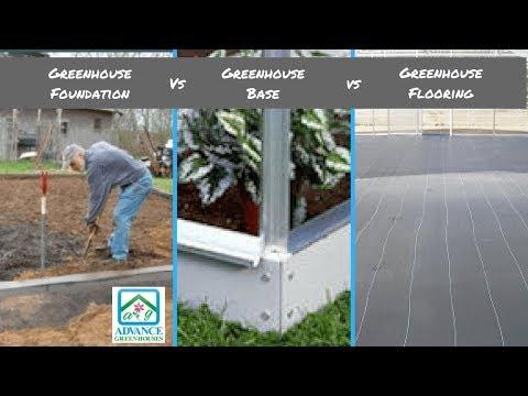 Greenhouse Foundation vs Greenhouse Base vs Greenhouse Floor