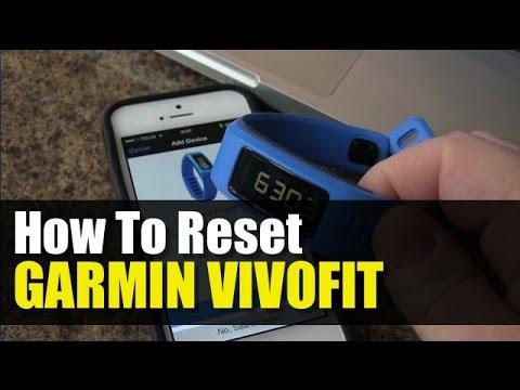 Garmin Vivofit - How to Reset