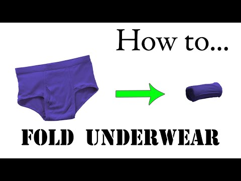 Army Packing Hack: How to Fold Underwear, Basic Training Style - The Best Ranger Roll Tutorial